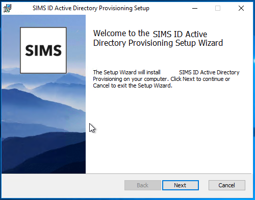 Active Directory Account Management local Provisioning MSI Setup